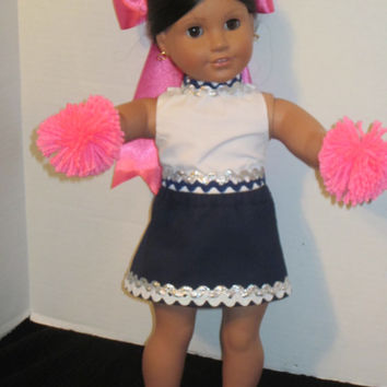 American Girl Custom Cheer Uniform 18 Inch Doll Clothes Cheer Bow Doll Cheer Outfit By Sweetpeas Bows & More