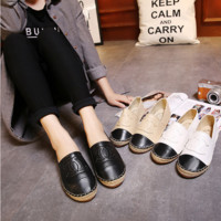All-match Fashion Casual Multicolor Straw Shoes Lazy Flats Shoes Single Shoes