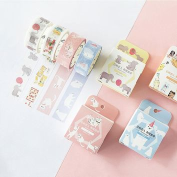 Kawaii Animal Masking Washi Tape Scrapbooking Decorative Planner Paper Adhesive Tape DIY Craft Decor Album Diary School Tool