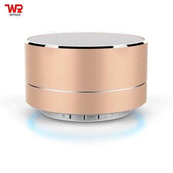 WPAIER A10 Aluminum alloy Wireless Bluetooth speakers Outdoor portable mini metal speaker with LED lights mini