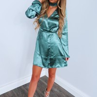 Slip Away Dress: Turquoise