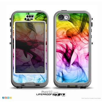 The Neon Glowing Fumes Skin for the iPhone 5c nüüd LifeProof Case