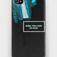 """Babe you look so cool"" The 1975 iPhone Case 