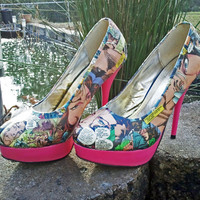Gambit and Rogue - Love Story - High Heels - X-Men - Comic Book Shoes