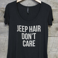 Jeep Hair Don't Care Short Sleeve Graphic Tee