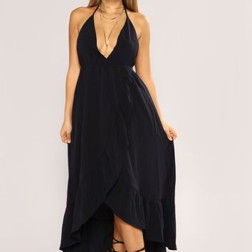 Doing Good Maxi Dress - Navy
