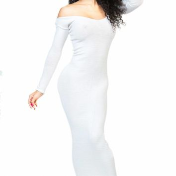 White Ankle Length Maxi Dress / Sexy Sweater Dress / In 20+ Colors