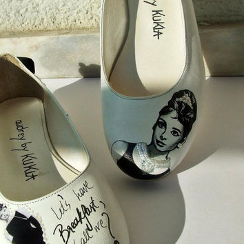 AUDREY HEPBURN Handpainted Shoes-Flats