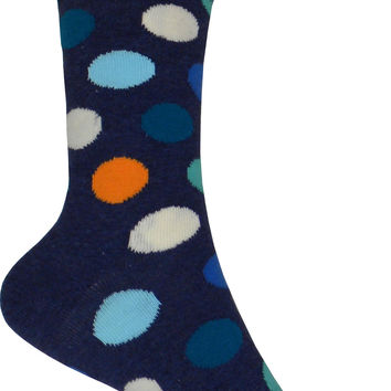 Big Dot Crew Socks in Navy