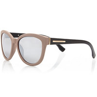 River Island Womens Brown and black cat eye sunglasses