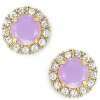 kate spade new york Gold-Tone Lilac Stone and Crystal Stud Earrings