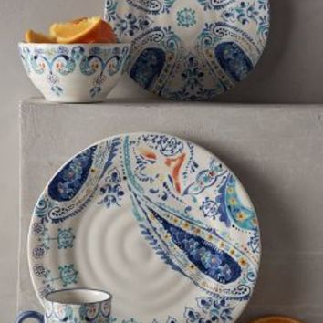 Swirled Symmetry Dinner Plate by Anthropologie in Blue Motif Size: Dinner Dinnerware