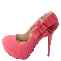 Side-Bow Platform Pumps by Charlotte Russe