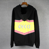 GUCCI Fashion Long Sleeve Hooded Print Casual Sweater