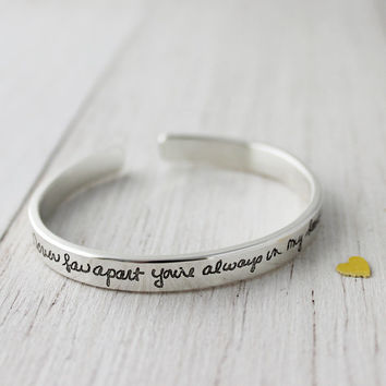 Handwriting Bracelet - Small Cuff
