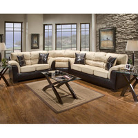 Chelsea Home Annabelle 4 Piece Living Room Set in Laredo Mocha