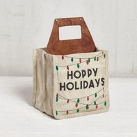 Happy Holidays Beer Caddy by Mona B