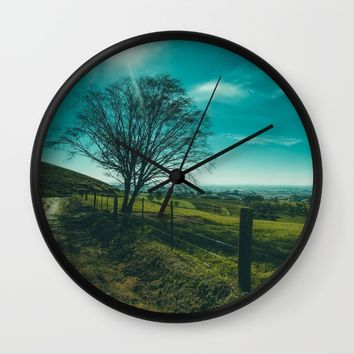 The Walk Home Wall Clock by Mixed Imagery