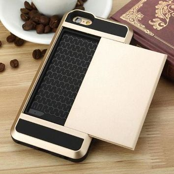 Perfect Edgy Cover Credit Card And Cash Stowaway Phone Case Cover For  Iphone 6 6s 6plus 6sPlus 7 7plus