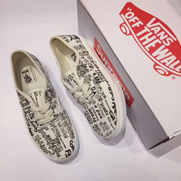 Vans Letter Graffiti Canvas Sneaker