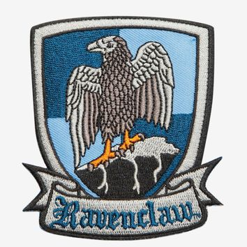 "Licensed cool Harry Potter Ravenclaw Bird Crest Embroidered IRON ON Patch Badge 3 1/2"" x 3"""