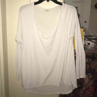 White flowy shirt($ 12) - Mercari: Anyone can buy & sell