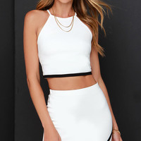 White Two Piece Dress