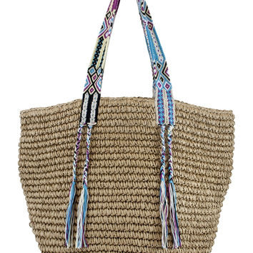 Limited Edition Straw Bag- Bahama Multi