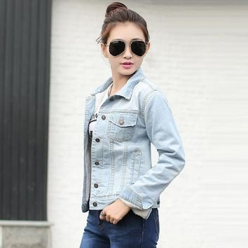 Trendy Spring Autumn Winter Female Jacket 2018 Fashion Women Bomber Jacket Wool lining denim jacket for women Warm Jeans Coat Female AT_94_13