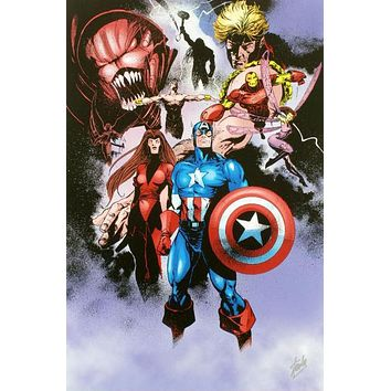 Avengers #99 Annual - Limited Edition Giclee on Canvas by Leonardo Manco and Marvel Comics Hand Signed by Stan Lee
