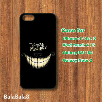 We are all Mad - Blackberry Z10 , Q10 case, iPhone  4 / 5 case,  iPod 4/ 5 case,  Samsung Galaxy S3, samsung Galaxy S4 case, Galaxy note 2