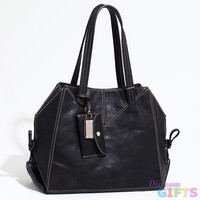 Chic Convertible Tote Bag w/ Coin Pouch - Black Color: Black