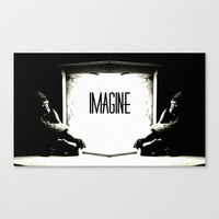 IMAGINE Stretched Canvas by Chrisb Marquez