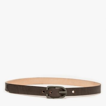 "Cause And Effect Flat Grey 1"" Leather Belt"