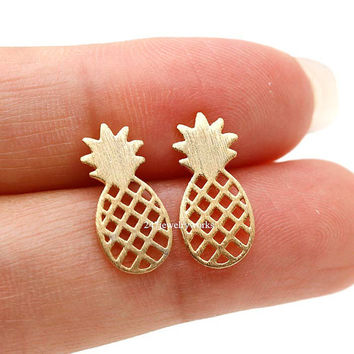 pineapple, pineapple earrings, fruit, fruit earrings, fruit jewelry, unique earrings, trend, fashion jewelry
