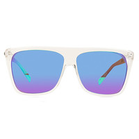 QUAY JIMMY SUNGLASSES IN CLEAR