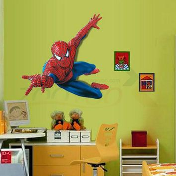 very boy have a dream be spiderman wall stickers for kids room pvc wall decal for Children Boys Kids room Superman Super Hero