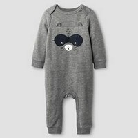 Baby Boys' Long-Sleeve Raccoon Coverall Grey - Cat & Jack Baby™