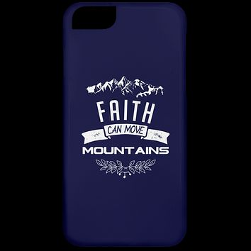 """Christian Gifts - """"Faith Can Move Mountains"""" Phone Cases"""