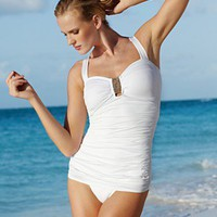 Jantzen Swimsuit, One Piece Convertible Strap Bathing Suit