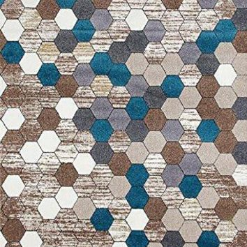 8606 Beige Contemporary Area Rugs