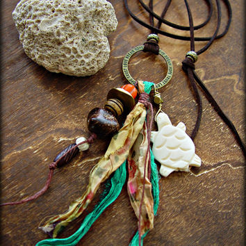Boho Hippie Necklace - Boho Jewelry - Yoga Necklace - Hippie Jewelry - African Tribal Necklace - Yoga Jewelry - Gypsy Necklace