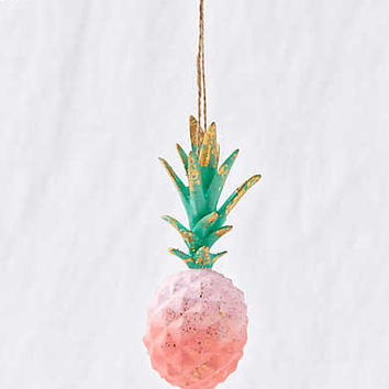 Glitterville Pineapple Ornament , Pink