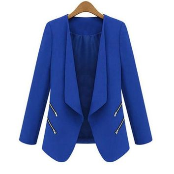 DCCKHY9 New Women Ladies OL Blazer Casual Suit Business Outerwear Long SleveeCoat 2015 New