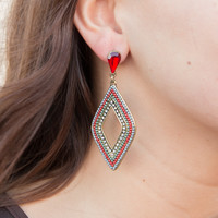 Bali Nights Earrings - Red
