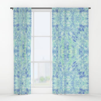 Blue lagoon Window Curtains by Savousepate