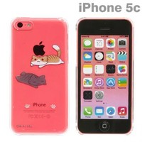 Strapya World : Niconico Nekomura Cat Clear Case For iPhone 5c (Nesoberi)