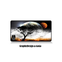 Iphone 4/4s case, Abstract Earth design, custom cell phone case