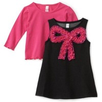 Love U Lots Baby-girls Infant Knit Denim Dress With Ruffle Bow $28.00