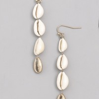 Cowrie 4 Shell Dangle Earring